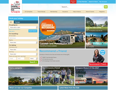 The Camping & Caravanning Club home page