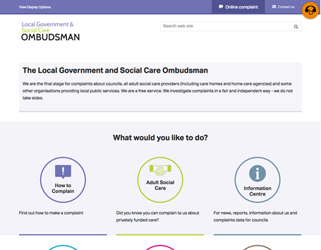 Home page - Local Government and Social Care Ombudsman