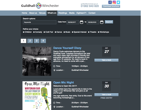 Winchester guildhall events listing
