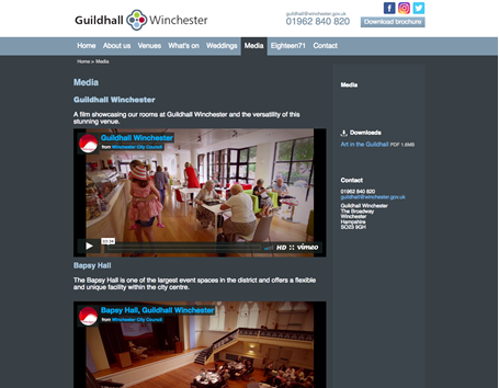 Winchester guildhall video item
