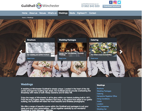 Winchester guildhall weddings page