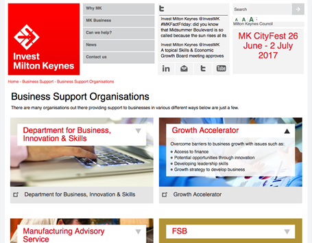 Invest Milton Keynes - Business support organisations