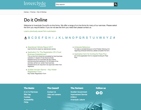 Inverclyde Council - Do it online