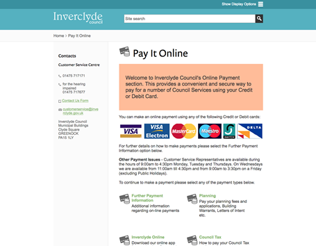 Inverclyde Council - pay online