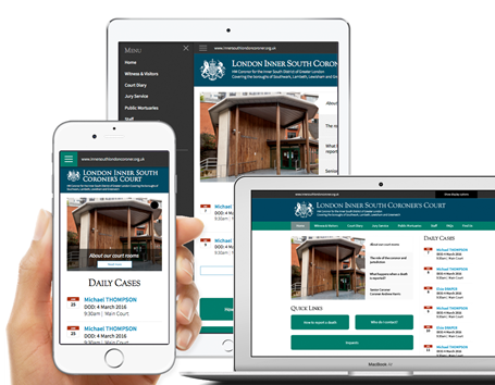 Responsive viewports design for the southwark coroners