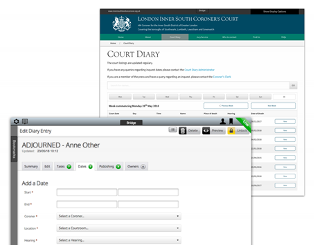 Court Diary custom bridge module