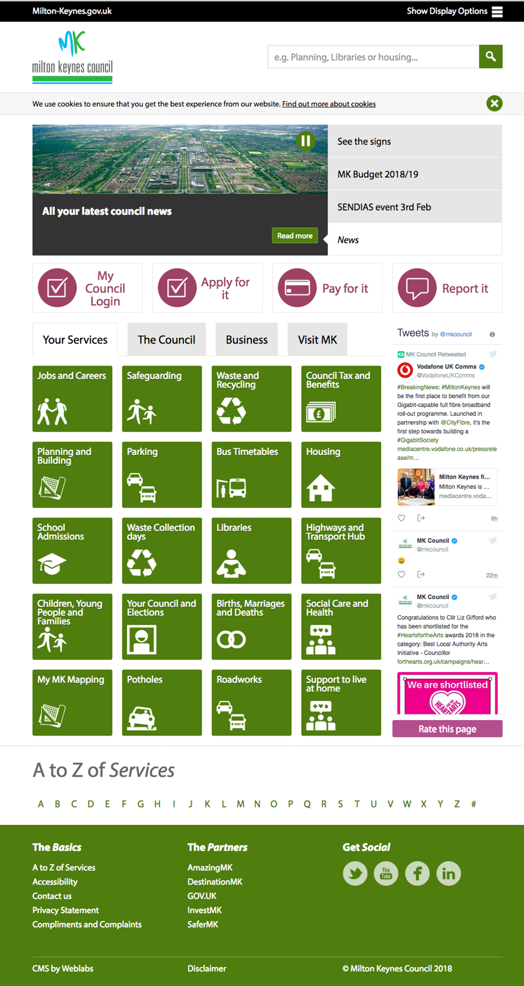 Milton Keynes borough council home page